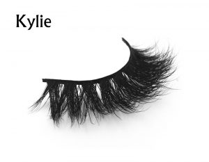 Red false eyelashes Hand made hair 3D mink lashes cherry