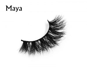 3D transparent clear invisible band mink lashes for reseller TD13